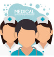 medical staff professional characters vector image