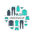men underwear clothing vector image
