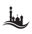 mosque icon design template mosque vector image vector image