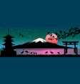 mount fuji japanese landscape vector image vector image