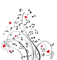 notes swirls vector image vector image