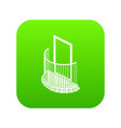 one door balcony icon green vector image vector image