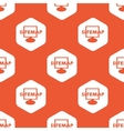 Orange hexagon sitemap pattern