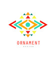 ornament colorful logo design ornate pattern with vector image