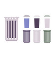 outdoor trash bin set vector image