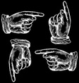 Pointing Hands Set vector image vector image