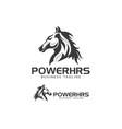 power horse logo design vector image vector image