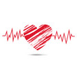 red heart symbol isolated white background vector image vector image