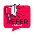 refer friend loudspeaker isolated icon share media vector image vector image