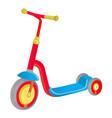 roller scooter for children balance bike eco vector image vector image