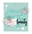romantic rose border design vector image