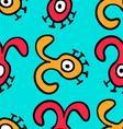 Seamless pattern UFO-8 vector image vector image