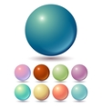 Set of muted color balls vector image vector image
