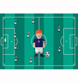 Soccer captain flat graphic vector image vector image