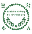 st patricks day herbal patterns vector image vector image