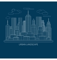 Thin line city landscape concept vector image vector image