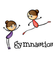Two gymnasts vector image vector image