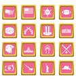 usa icons pink vector image vector image