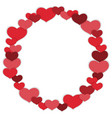 valentines day circle frame vector image vector image