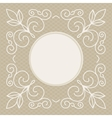 wedding invitation design template - decorative vector image