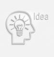 white idea bulb flat icon vector image vector image