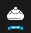 white jewish sweet bakery icon isolated on black vector image vector image