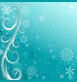 winter blue christmas frame vector image vector image