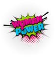 woman girl power comic book text pop art vector image vector image