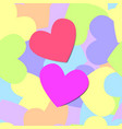 colorful seamless pattern of heart vector image