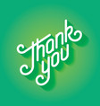 Thank you text lettering card vector image