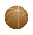 basketball orange icon vector image