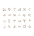 5g icons internet mobile safety wireless 4g vector image