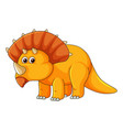 a triceratops on white background vector image vector image