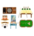 Active leisure and sports game set vector image vector image