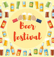 beer festival flat template vector image vector image