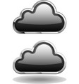Black Cloud Icon vector image vector image