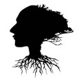 black human head tree vector image vector image