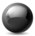 Black metallic ball vector image vector image