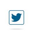 blue bird logo blue bird in white background jpg vector image