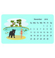 calendar 2018 for november vector image vector image