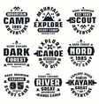 Camping and tourism badges vector image vector image