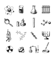 Chemistry icons set vector image vector image