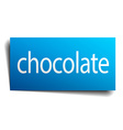 chocolate blue paper sign on white background vector image vector image