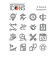 collection minimal thin line icons startup and vector image