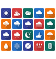 collection of rounded square icons weather vector image vector image