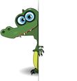 Crocodile over white background vector image