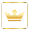 Crown gold icon white vector image