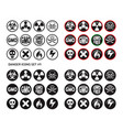 Danger icons set