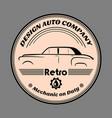 design auto company retro label vector image vector image