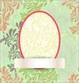 Easter egg made flowers eps10